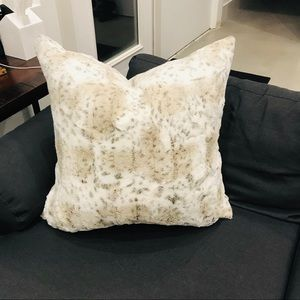 Oversized Faux Chinchilla Pillow Down Filled